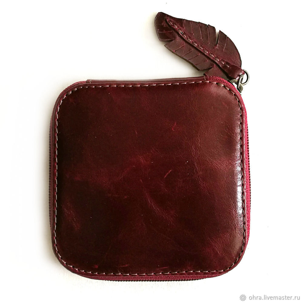 Wallet leather 'Altyn' cherry, Wallets, Cheboksary,  Фото №1