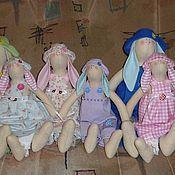 Куклы и игрушки ручной работы. Ярмарка Мастеров - ручная работа Семейки зайчиков. Handmade.