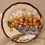 Посуда handmade. Livemaster - original item Painted porcelain plates.