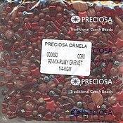 Материалы для творчества handmade. Livemaster - original item 20g mix Ruby Garnet Czech Preciosa beads. Handmade.