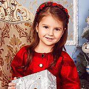 """Работы для детей, ручной работы. Ярмарка Мастеров - ручная работа Валяное платье """"Аленький цветочек"""".. Handmade."""