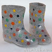"""Обувь ручной работы. Ярмарка Мастеров - ручная работа Валенки детские """"Горошек""""(3). Handmade."""