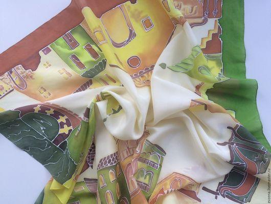 Шарфы и шарфики ручной работы. Ярмарка Мастеров - ручная работа. Купить Венецианские каналы. Handmade. Рисунок, архитектура