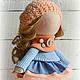 Коллекционные куклы ручной работы. Кукла-малыш Апельсинка. **АSSORTIES** от Людмилы Сухановой. Интернет-магазин Ярмарка Мастеров. Синий, пряжа