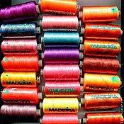 Материалы для кукол и игрушек ручной работы. Ярмарка Мастеров - ручная работа Нитки для машинного вышиванния. Handmade.