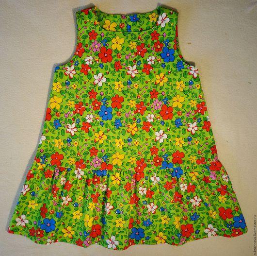Одежда для девочек, ручной работы. Ярмарка Мастеров - ручная работа. Купить Детское платье летнее цветочное. Handmade. Летнее платье
