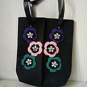 Сумки и аксессуары handmade. Livemaster - original item FELT Black bag,