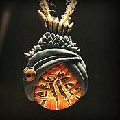 Подвеска ручной работы. Ярмарка Мастеров - ручная работа Кулоны с рыбами, глотающими различные астрономические объекты. Handmade.