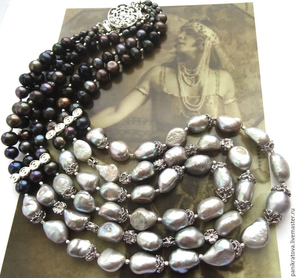 Necklace 'Stranger' (pearl), Necklace, Moscow,  Фото №1