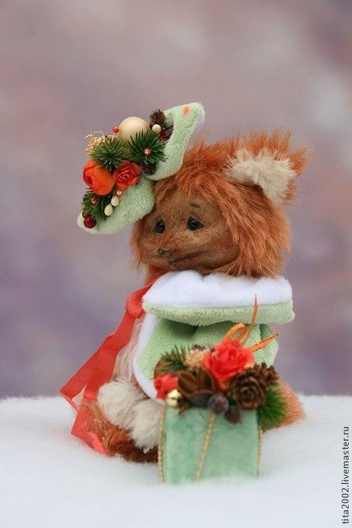 Мишки Тедди ручной работы. Ярмарка Мастеров - ручная работа. Купить Снегурка. Handmade. Рыжий, Новый Год, мохер Германия