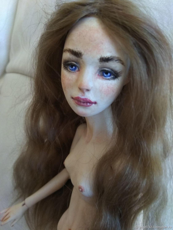 Реставрация и роспись авторской куклы из флюмо, Шарнирная кукла, Москва,  Фото №1