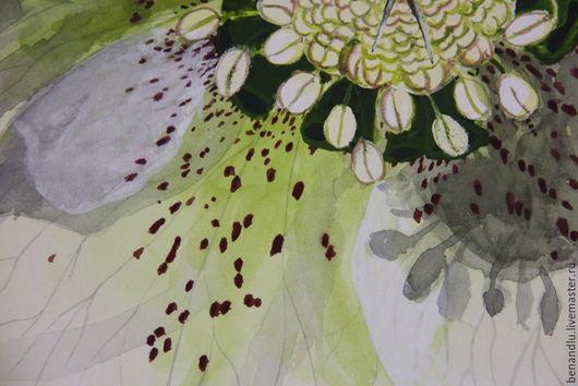 """Картины цветов ручной работы. Ярмарка Мастеров - ручная работа. Купить Цветочная акварель """"Морозник Черный"""". Handmade. Картина с цветами"""