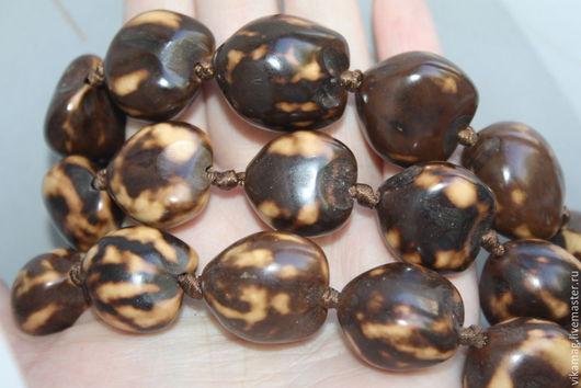 Для украшений ручной работы. Ярмарка Мастеров - ручная работа. Купить Бусины  орехи  Кукуи  мраморные. Handmade. Природный орех