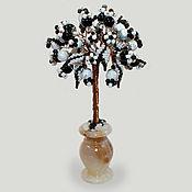 Цветы и флористика handmade. Livemaster - original item Tree of caholong (milk opal) and agate