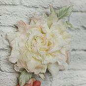 Brooches handmade. Livemaster - original item Meredith silk rose flower brooch