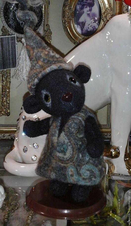 Мишки Тедди ручной работы. Ярмарка Мастеров - ручная работа. Купить мини мишка тедди-  девочка милашка в колпачке. Handmade.