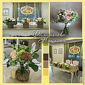 Свадебный салон ручной работы. Ярмарка Мастеров - ручная работа Оформление свадьбы (желто-зелено-коричневая). Handmade.