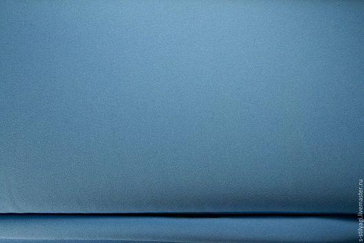 Шитье ручной работы. Ярмарка Мастеров - ручная работа. Купить Креп блузочный темно-голубой. Handmade. Голубой, блузочная ткань