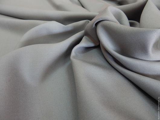 Шитье ручной работы. Ярмарка Мастеров - ручная работа. Купить Итальянская шерстяная ткань, Стальная. Handmade. Серый, шерстяное платье