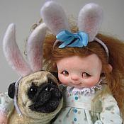 """Куклы и игрушки ручной работы. Ярмарка Мастеров - ручная работа """"Зайцы"""". Handmade."""