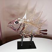 Для дома и интерьера handmade. Livemaster - original item Sculpture Fish made of glass purple. Handmade.