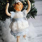 Куклы и игрушки ручной работы. Ярмарка Мастеров - ручная работа Ватные елочные игрушки. Снежинка. Резерв. Handmade.