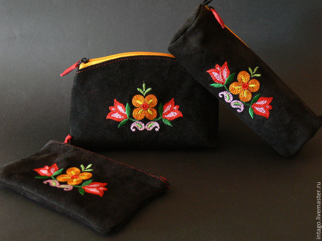 A set of suede (purse, spectacle case and key ring ), Beauticians, Novosibirsk,  Фото №1