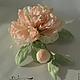 Цветы ручной работы. Ярмарка Мастеров - ручная работа. Купить Пион с бутоном. Handmade. Пион из шелка, брошь-цветок