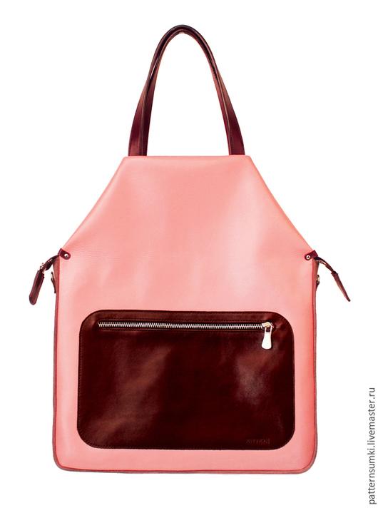 Женские сумки ручной работы. Ярмарка Мастеров - ручная работа. Купить Дизайнерская кожаная сумка Pattern Rosebud. Handmade. Розовый