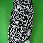 Skirts handmade. Livemaster - original item Skirt Zebra Jersey. Handmade.