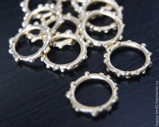Для украшений ручной работы. Ярмарка Мастеров - ручная работа. Купить Кольцо декоративное 15 мм, матовая позолота. Handmade.