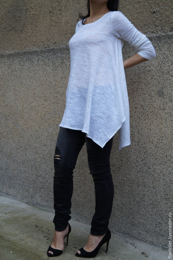 Блузка с большими рукавами с доставкой