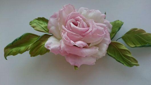 Броши ручной работы. Ярмарка Мастеров - ручная работа. Купить Роза  из шёлка. Handmade. Брошь ручной работы, натуральный шёлк