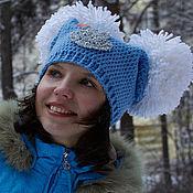 Аксессуары handmade. Livemaster - original item Warm hat with two POM-poms. Handmade.
