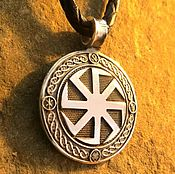 Украшения handmade. Livemaster - original item Pendant Kolovrat both sides from silver 925. Handmade.