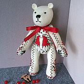"""Куклы и игрушки ручной работы. Ярмарка Мастеров - ручная работа Миниатюрный мишка """"Узоры Севера 2"""". Handmade."""