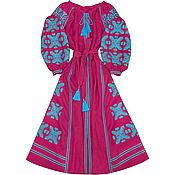 "Одежда handmade. Livemaster - original item Long dress ""Azure Starfall"". Handmade."