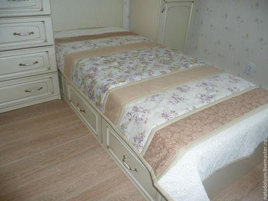 """Текстиль, ковры ручной работы. Ярмарка Мастеров - ручная работа. Купить Покрывало на кровать""""Бежевый прованс"""". Handmade. Бежевый, плед для новорожденного"""