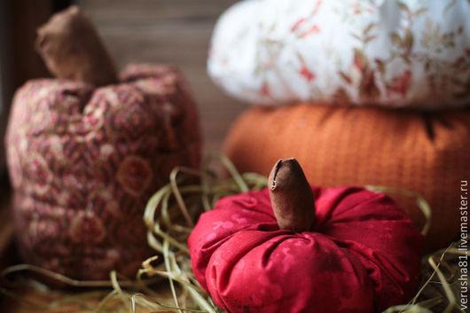 Комплекты аксессуаров ручной работы. Ярмарка Мастеров - ручная работа. Купить Текстильные тыквы. Handmade. Рыжий, хэлоуин, подушка в машину