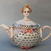 """Посуда ручной работы. Ярмарка Мастеров - ручная работа """"Прынцесса""""чайничек заварочный.. Handmade."""