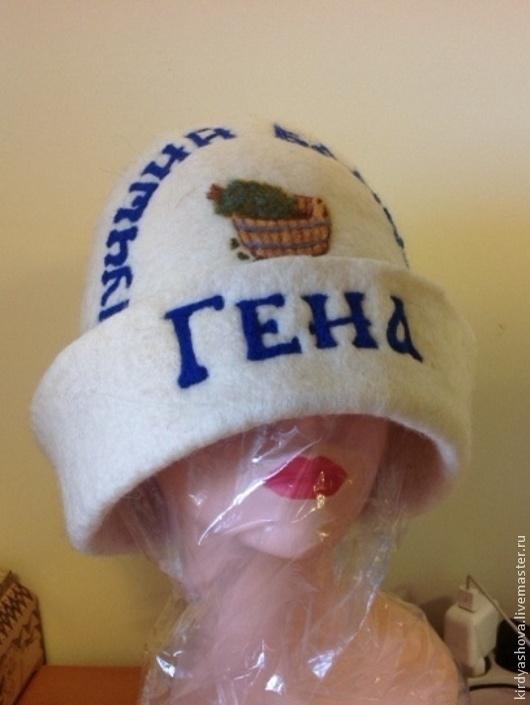 Банные принадлежности ручной работы. Ярмарка Мастеров - ручная работа. Купить Банная шапка ручная валка. Handmade. Бежевый, парная