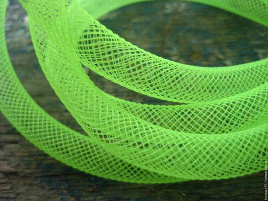 Для украшений ручной работы. Ярмарка Мастеров - ручная работа. Купить Сетка бижутерная ярко-зелёный. Handmade. Ярко-зелёный