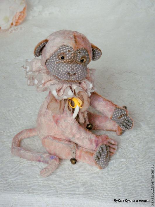 Мишки Тедди ручной работы. Ярмарка Мастеров - ручная работа. Купить Мия - обезьянка (друг тедди мишек). Handmade. Бежевый