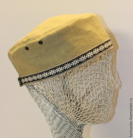 Для мужчин, ручной работы. Ярмарка Мастеров - ручная работа. Купить Летняя шапочка-таблетка. Handmade. Салатовый, феска