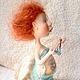 Коллекционные куклы ручной работы. Ярмарка Мастеров - ручная работа. Купить по мотивам работы кукла Найа. Handmade. Морская волна