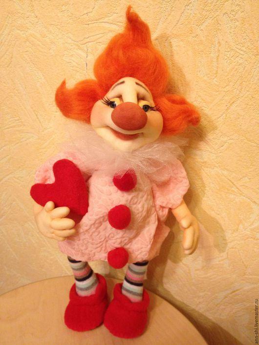 Коллекционные куклы ручной работы. Ярмарка Мастеров - ручная работа. Купить Влюбленный клоун. Handmade. Комбинированный, клоун