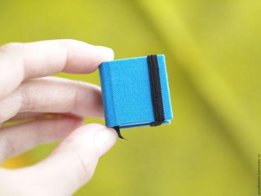 Блокноты ручной работы. Ярмарка Мастеров - ручная работа. Купить Крошечный блокнотик ярко-голубого цвета. Handmade. Голубой, канцелярия