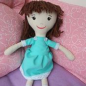 Куклы и игрушки ручной работы. Ярмарка Мастеров - ручная работа Кукла в зелёном платье. Handmade.
