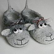 """Обувь ручной работы. Ярмарка Мастеров - ручная работа Тапочки """"Овечки"""". Handmade."""