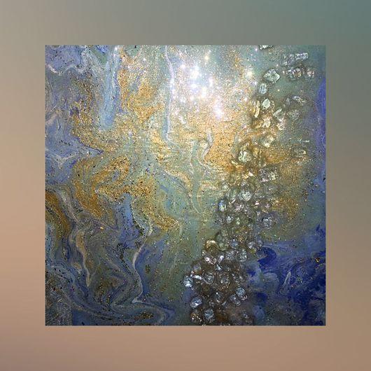 """Абстракция ручной работы. Ярмарка Мастеров - ручная работа. Купить """"Ближе к небу"""". Handmade. Картина, панно, блеск, зеркала, стекло"""